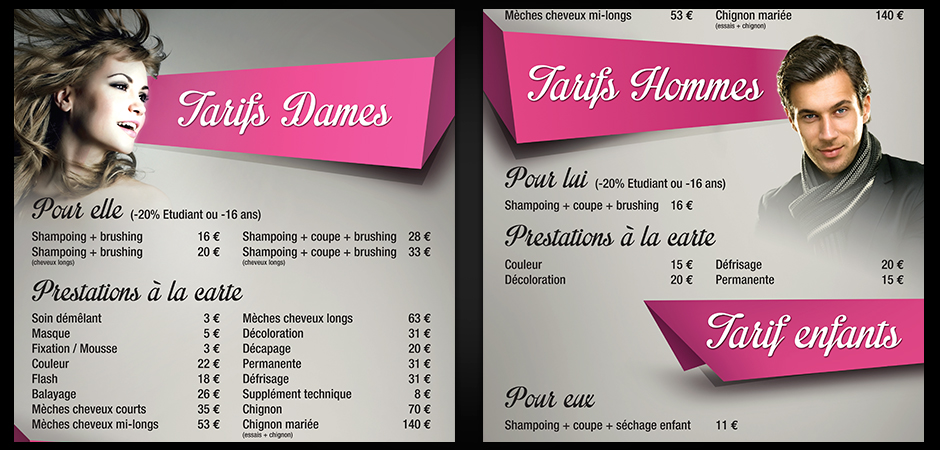 Illusion agence experte en print multimedia campagne - Panneau publicitaire salon de coiffure ...